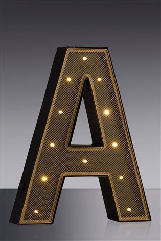 Buy Mesh Lit Letters from the Next UK online shop