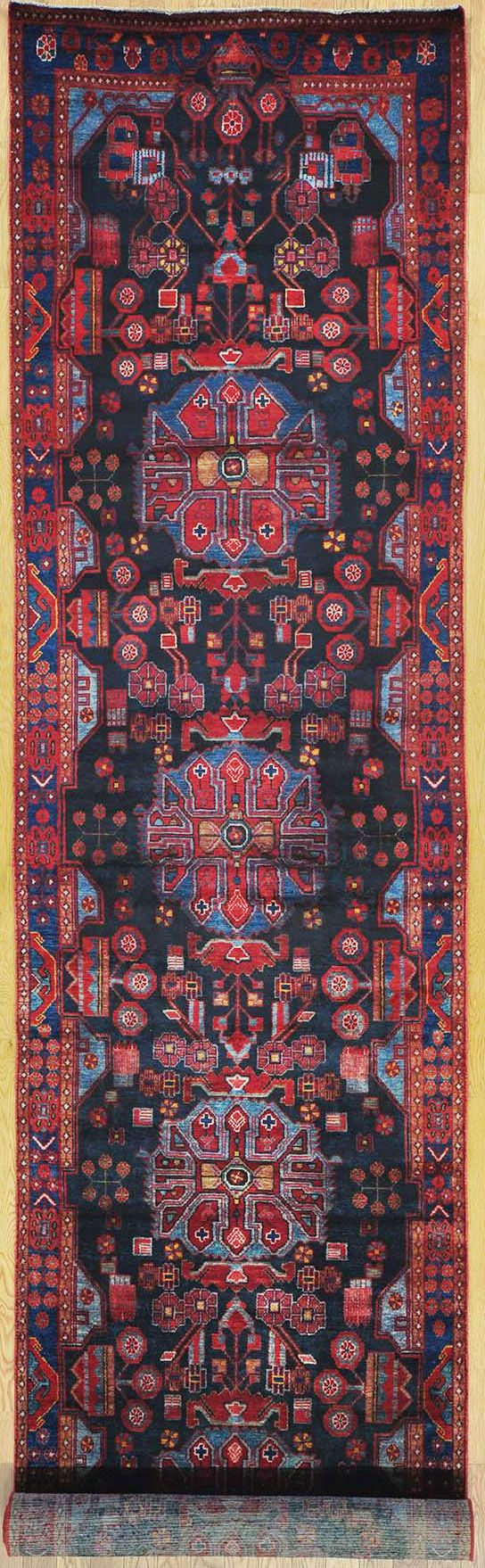 """Buy Hand Knotted Nahavand Persian Rug 3' 8"""" x 17' 1"""" at OLDCARPET"""