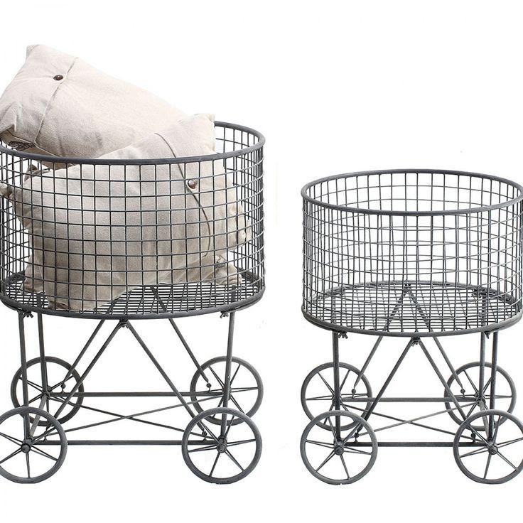 Neve Metal Laundry Basket Small