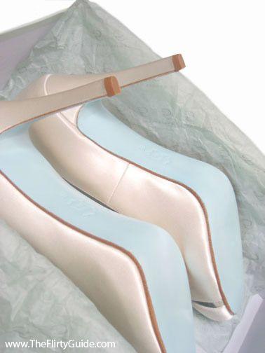 Tiffany Blue Soled Bridal Shoes
