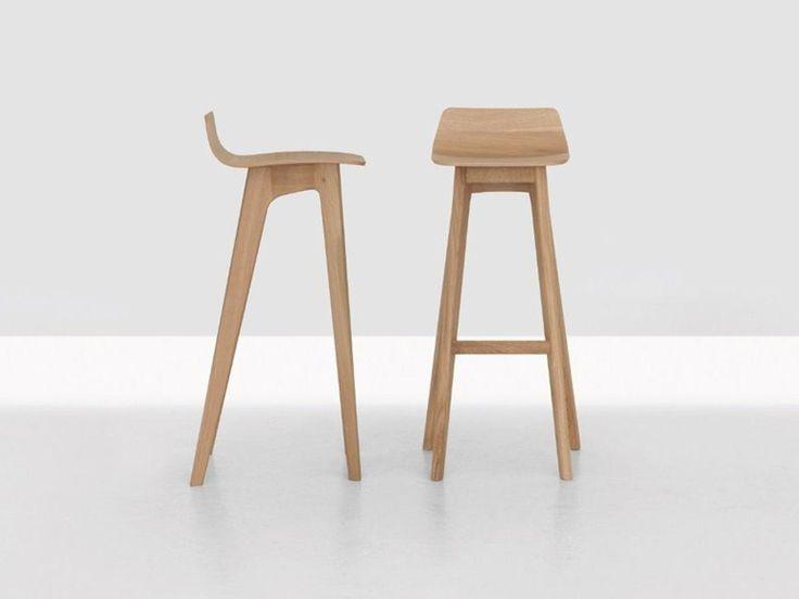 Taburete alto de madera MORPH BAR Colección MORPH by ZEITRAUM | diseño Formstelle