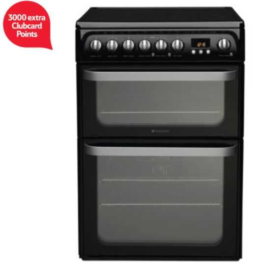1500 - 3000 extra Clubcard points with Hotpoint cookers Earlier this month Tesco Direct had Hotpoint washer dryers and washing machines with extra Clubcard points. Now it's time for a new cooker.  Until 2...