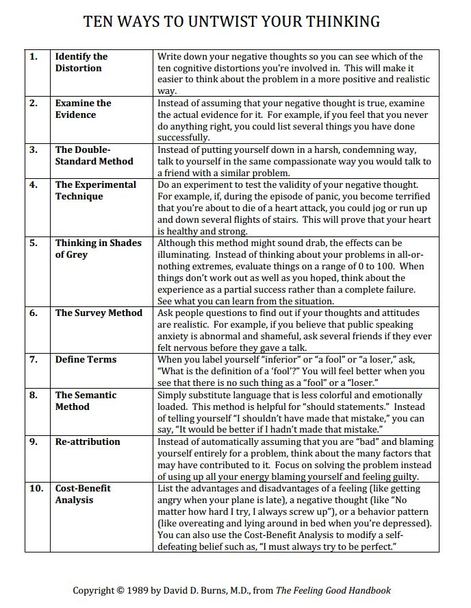 Worksheets Cognitive Distortion Worksheet 25 best ideas about cognitive distortions on pinterest cbt ten ways to untwist your thinking distortions