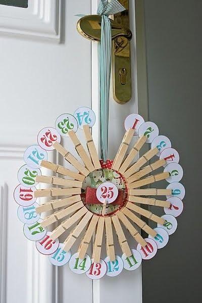 Calendario De Adviento Pinzas