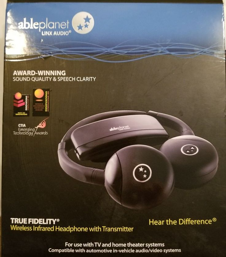 AblePlanet Assistive Listening Infrared Wireless TV Headphone w/Transmitter New #AblePlanet