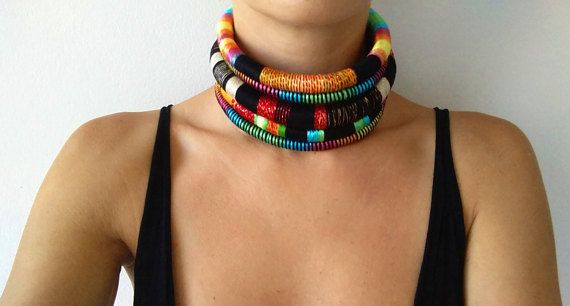 Check out this item in my Etsy shop https://www.etsy.com/listing/259266720/reine-choker-tribal-necklace-tribal