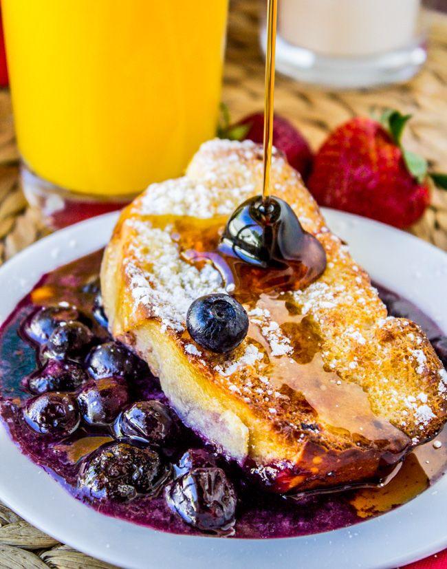 Noche Blueberry French Toast Cazuela de El charlatán de Alimentos                                                                                                                                                                                 Más