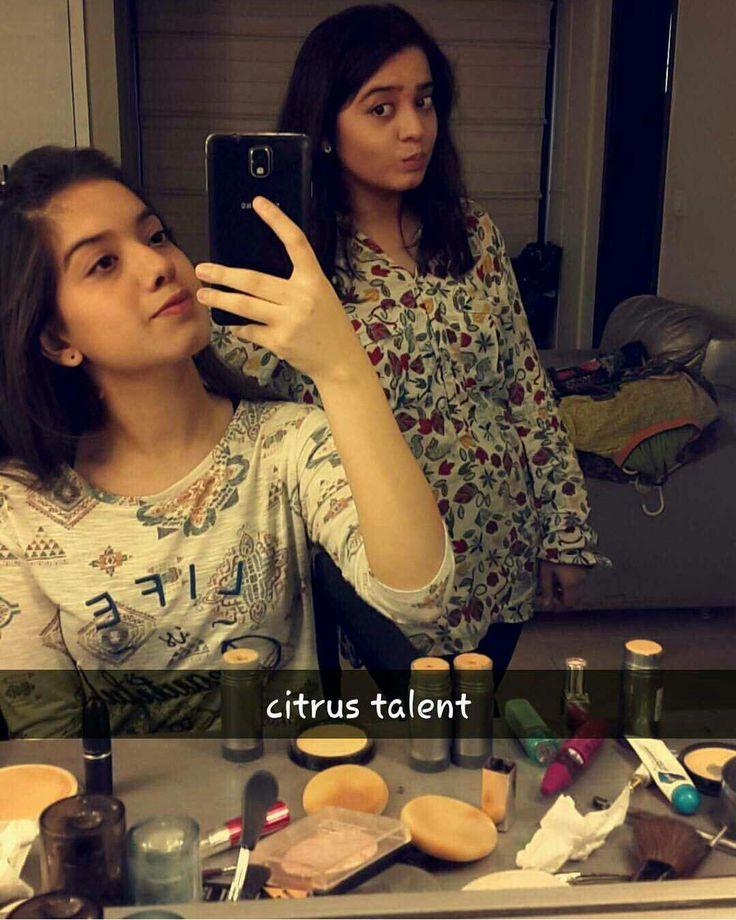 Arisha Razi and Sarah Razi #SelfieTime #CitrusTalent.