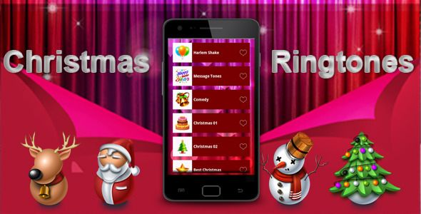 "Christmas Ringtones . Christmas Ringtones and Soundboard for your Android phone. Customize your phone with Christmas Enjoy and wish you all ""Merry Christmas and Happy New"