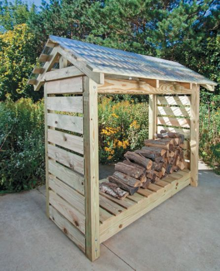 #Howto build a #DIY #firewood shelter.   Source - Practical Projects for Self-Sufficiency