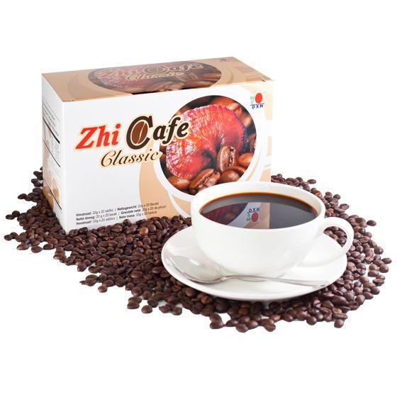 Zhi Cafe Classic:  DXN brengt Zhi Cafe Classic die samengesteld is met een mengsel van Ganoderma extract, rietsuiker en volledig gebrande koffiebonen. Het geeft je een milde, zachte smaak met een bevredigende diepe aangename geur die het uitstekend doet als het eerste kopje koffie in de ochtend. Je zal absoluut versteld staan van de aroma en de smaak van dit vers gebrande bakkie koffie!  http://ganodermakoffie.dxnnet.com/