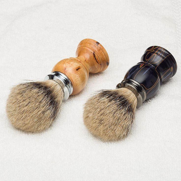 Artisan Super Silvertip Badger Shaving Brush Kits. #woodturning #shaving