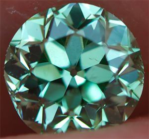 0.26 carat fancy intense green diamond