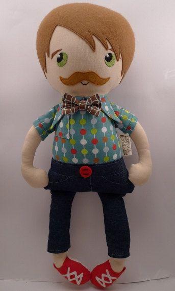 Oskar - handmade cloth doll, rag doll