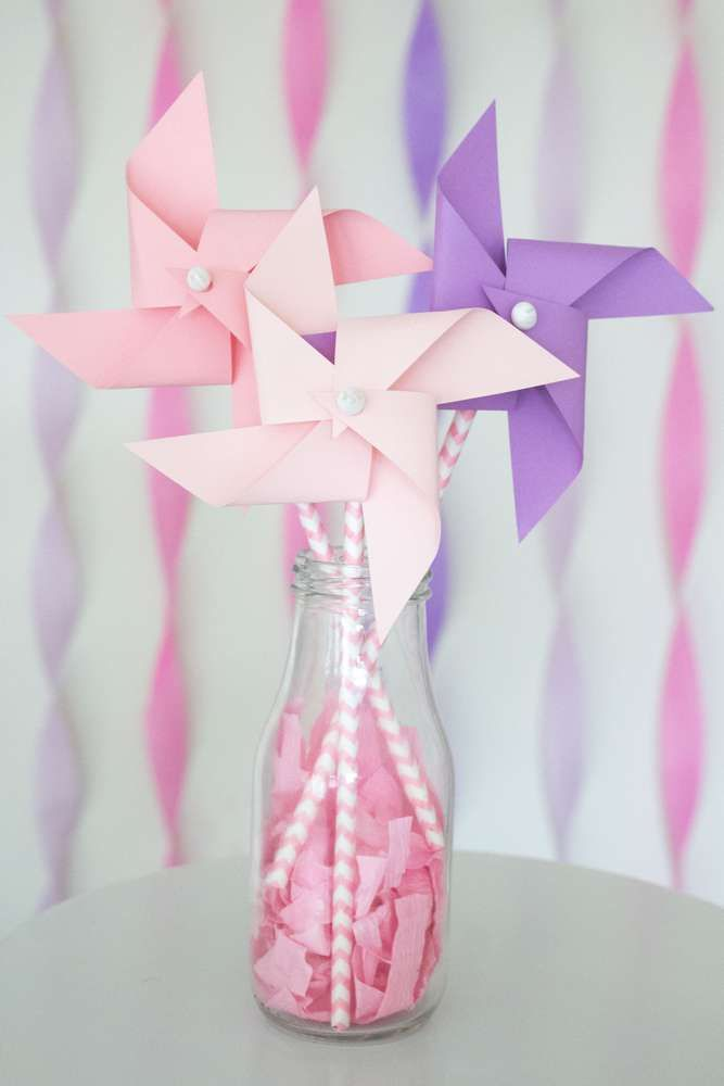 Disney princess birthday party centerpieces! See more party ideas at CatchMyParty.com!