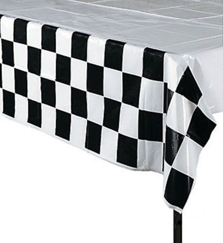 RACING-PARTY-Chequered-Flag-Design-Tablecover-Plastic-Tablecloth-137-x-274cm