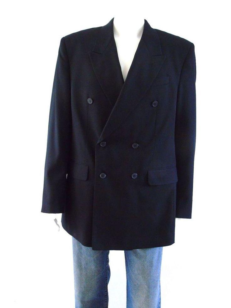 Bonelli Double Breasted Blazer Jacket Midnight Blue. Travel Blazer. Polyester Blend. | eBay!