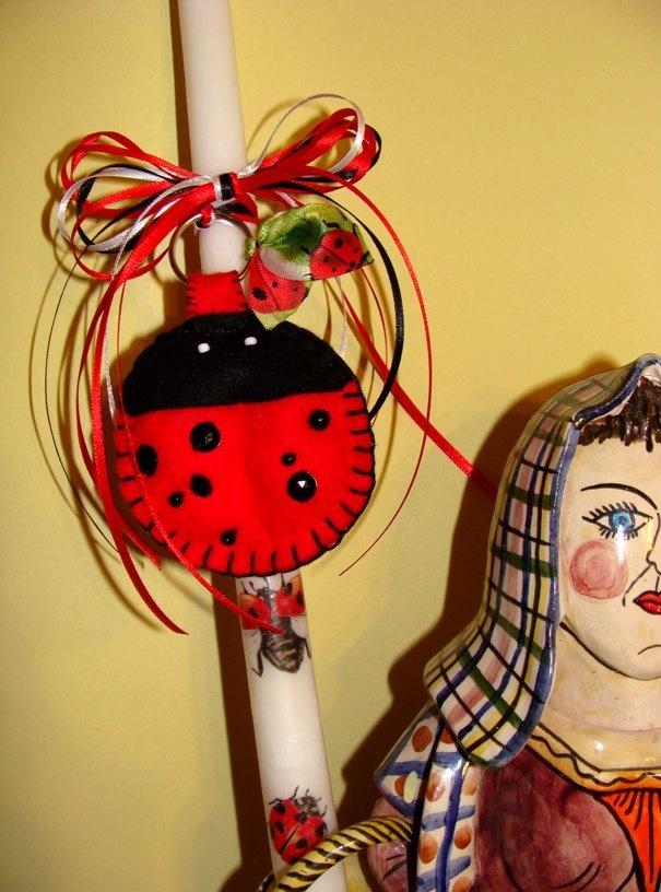 Ladybug!   Easter Candle