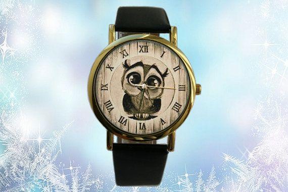 Christmas gift Owl watch Leather Gift Idea Women by SovietCrimea