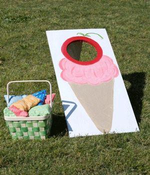 Ice Cream Party Game... maybe modify the cornhole board?