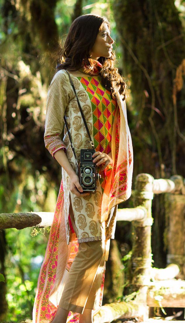 Sana Safinaz Pakistani lawn collection 2014 available at Sahil