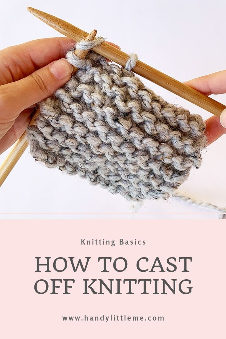 How To Cast Off In Knitting Video Tutorial Casting Off Knitting Knitting Videos Tutorials Knitting Basics
