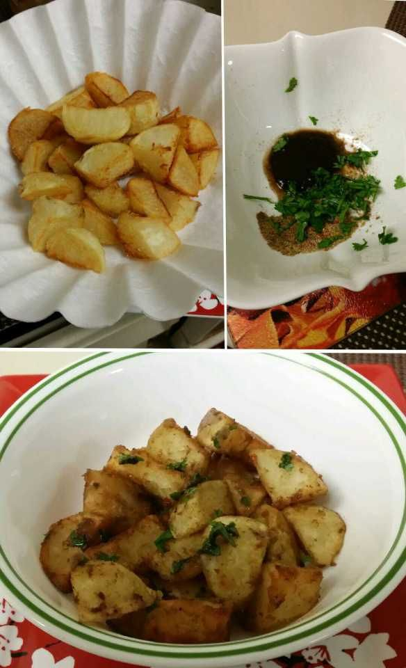 Yummy Indian Potato chaat/ snack. Mouth watering :)