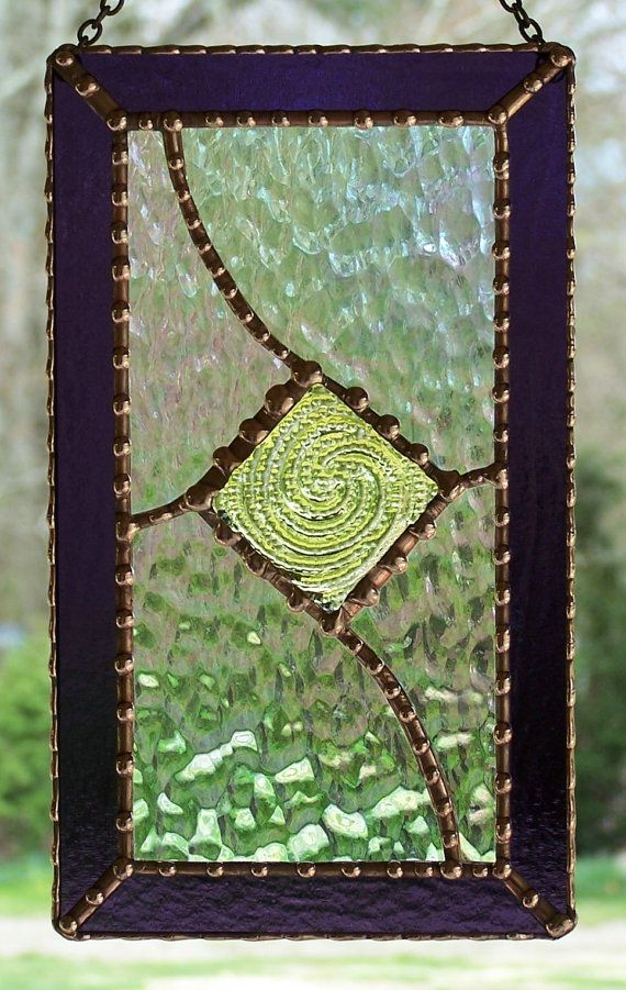 Stained Glass Panel by PineTreeGlassWorks on Etsy, $65.00