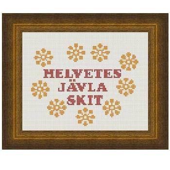 Fuldesign cross stitch embroidery pattern Helvets jävla skit