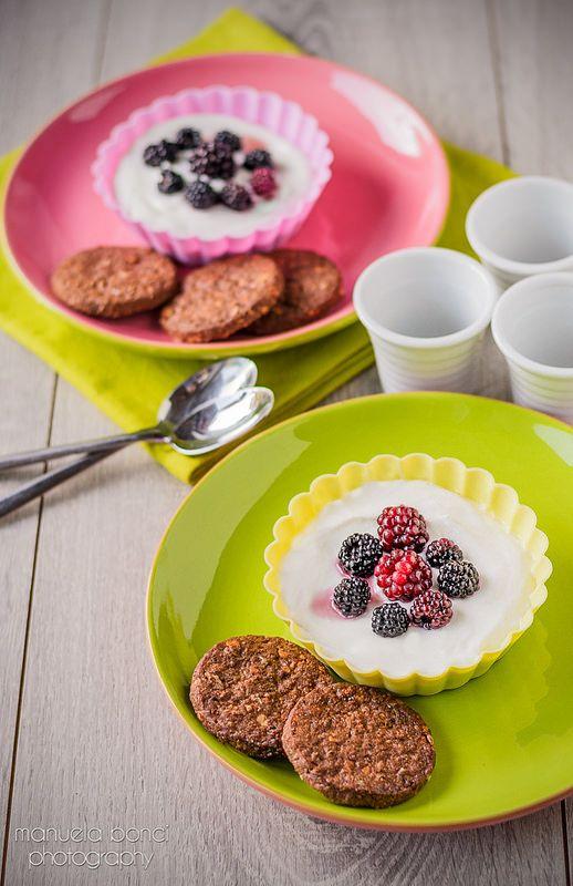dessert allo yogurt con biscotti al cacao