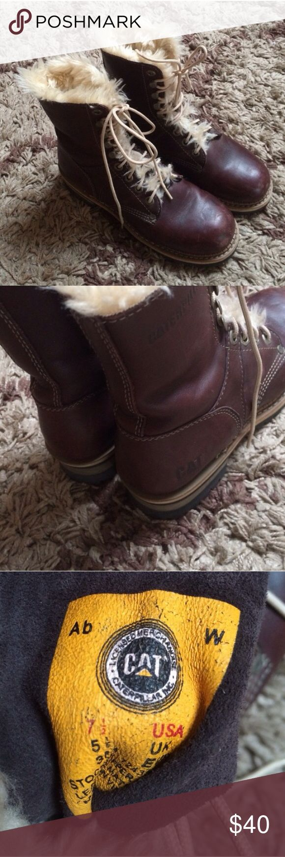 Excellent CAT Leather Boots These boots have excellent traction! I use them in the winter as snow shoes and I have never slipped! Caterpillar Shoes Combat & Moto Boots