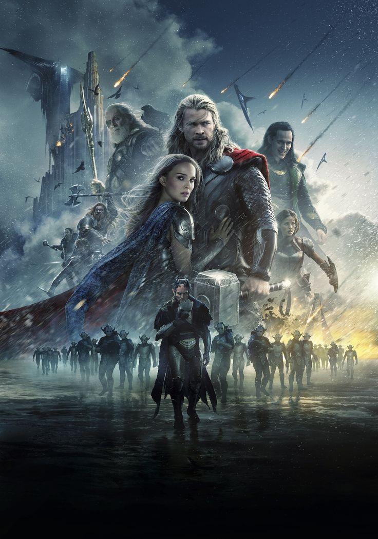 Poster art thor odinson jane foster loki laufeyson - Thor art wallpaper ...