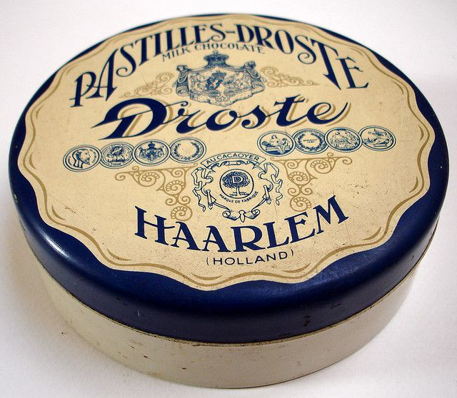 vintage chocolates tin | Pastilles-Droste Milk Chocolate | Droste Haarlem (Holland) | hier houd ik van | flickr