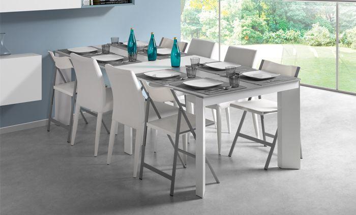 Kibuc muebles y complementos mesa de comedor kenya for Table extensible keneah