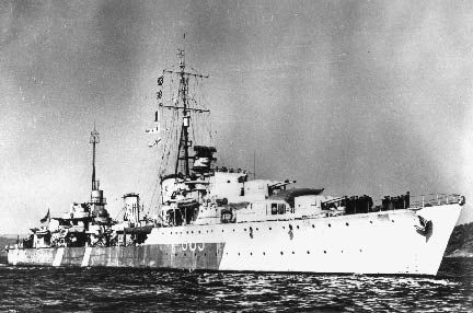 HMCS Haida (G 63) of the Royal Canadian Navy - Canadian Destroyer of the WWII Tribal class.