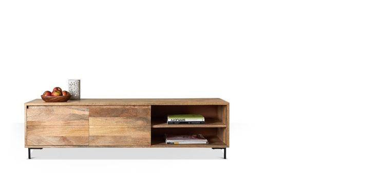 Swoon Editions Industrial style media unit in mango wood — just £299