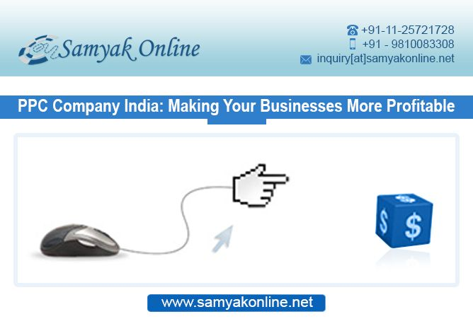 Get the website at the top of search results in your budget by making use of professional Ppc management services from the team of experts. Samyak Online India offers the best PPC Solutions at affordable rates.