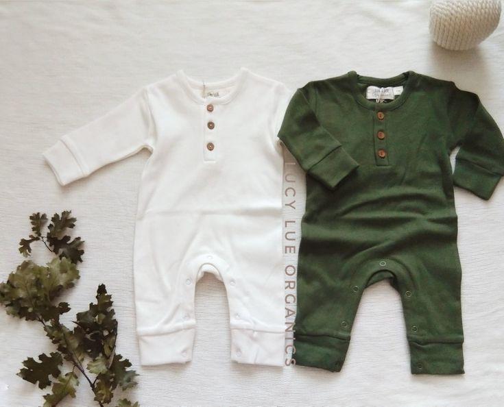 Premium Babykleidung! Alles aus weicher Bio-Baumwolle. Von Lucy Lue Organics. Ka …