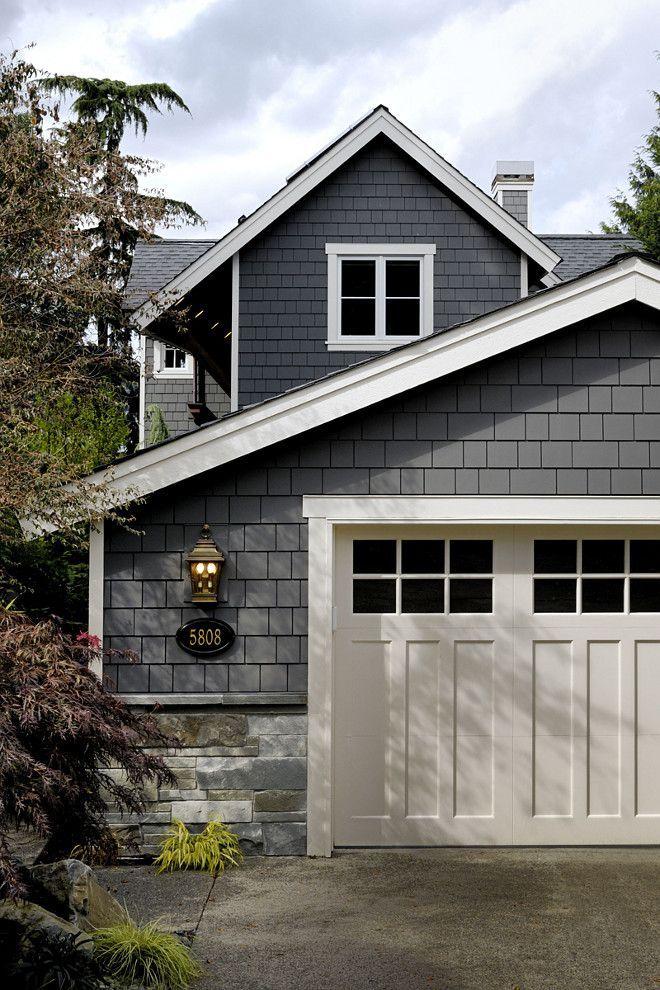 Charcoal Exterior Paint : charcoal, exterior, paint, Exterior, Paint, Color, Siding, Benjamin, Moore, Kendall, Charcoal,, House, Exterior,, Colors, House,, Modern, Farmhouse