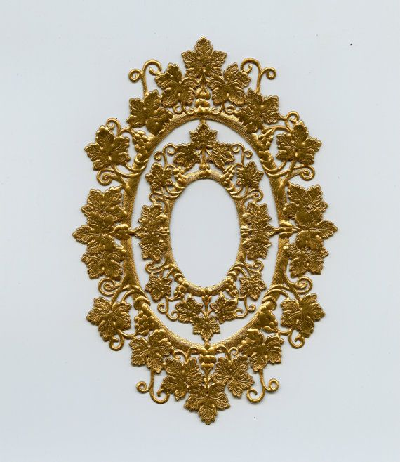 DRESDEN FRAMES  Grape Vine Old Gold Frames by OneDayLongAgo, $3.00