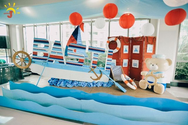 Basti's Nautical Themed Party – Stage Backdrop