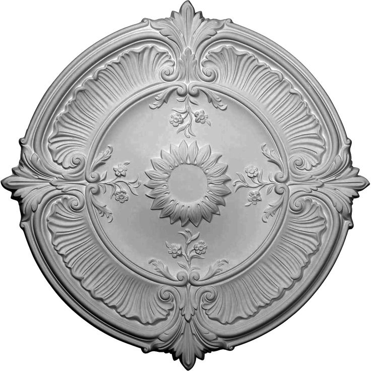 30 18inch od x 1 12inch p attica acanthus leaf ceiling medallion fits canopies up to 3 14inch - Ceiling Medallion