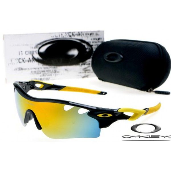 $13 - Cheap oakley free shipping radarlock path sunglasses polished black / fire iridium
