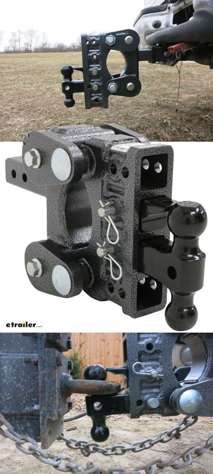 Gen Y Torsion 2 Ball Mount W Stacked Receivers 2 Hitch 5