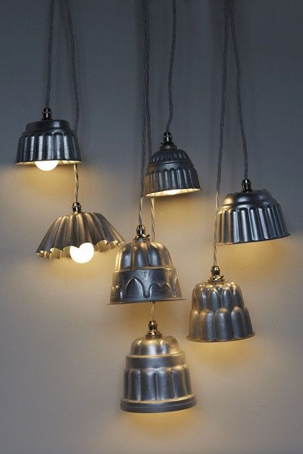 vintage jelly mould lights from re-foundobjects.com