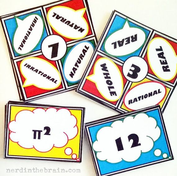 Real Number System Quadash Math Game: A Fun Way to Practice with Number Sets and Subsets by NerdintheBrain