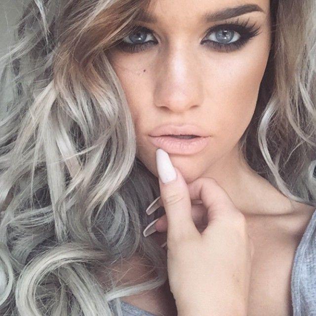 Hair style hair color Makeup nails