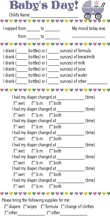 PP: daycare report. If I ever send my kids to daycare or baby sitter I mmust do these. If I do home daycare or sitting, these will be handy, but also can just use a marker board.