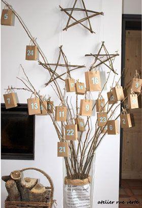 3 façons de fabriquer un calendrier de l'avent pour enfants. #Noel #Diy #Fetes