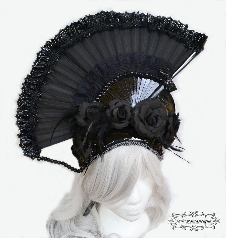 Black Pvc extravagant gothic headpiece Available at: www.etsy.com/shop/NoirRomantique